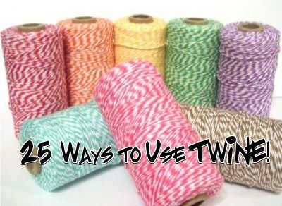 25 Ways to use Twine: Gift, Colors, Things, Craft Ideas, Bakers Twine, Crafts