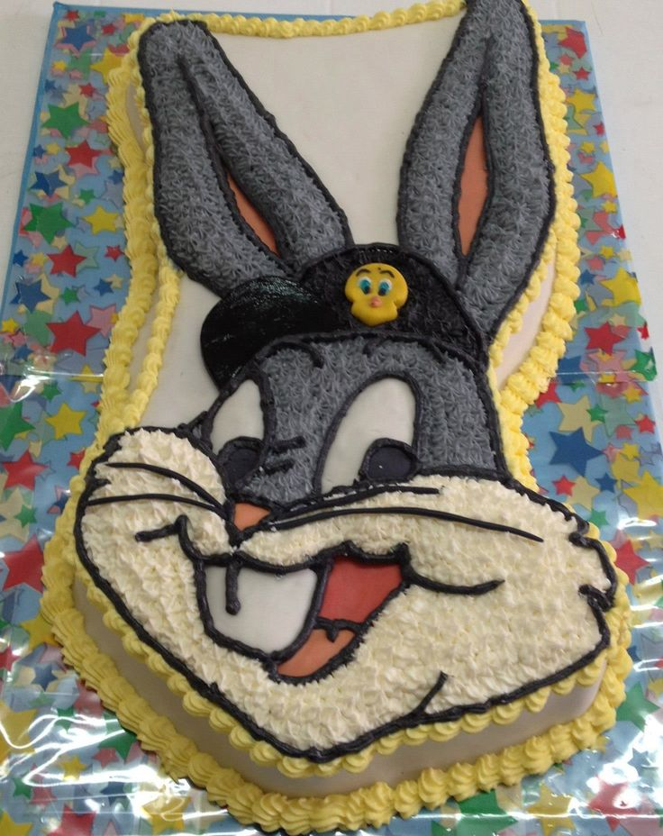 "Torta para Niños ""Bugs Bunny"" de Pastelería dCondorelli - www.dcondorelli.cl - Santiago, Chile"