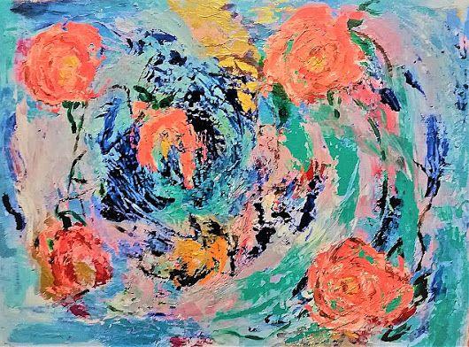 Rose all'interno d'un vortice