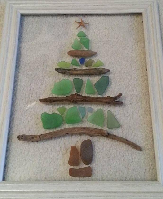 Sea Glass Christmas Tree Coastal Christmas Pinterest