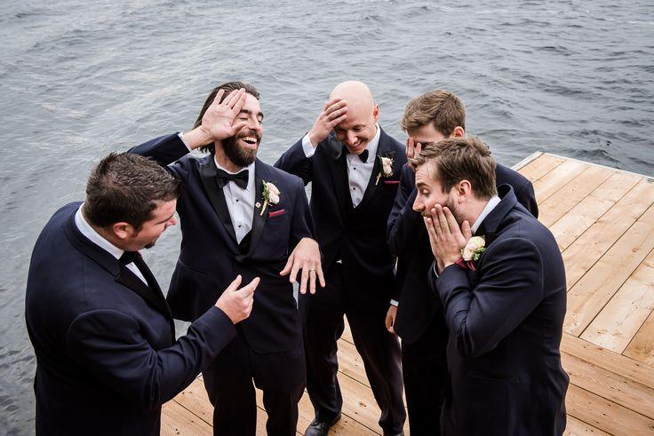 #VisualRoots #Groomsmen #Laughter #Wedding #Lakeside