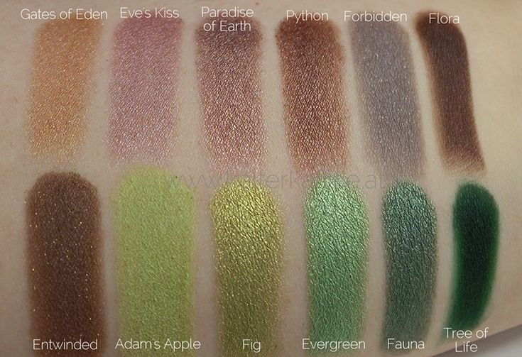 Sleek i-Divine Garden of Eden Swatches
