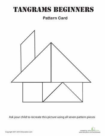 Worksheets: Easy Tangrams Puzzle #2 plus links to other worksheets from education.com