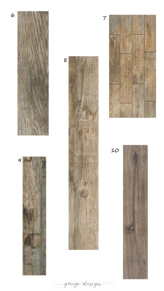 (Tile above:Dal Tile Emblem in Grey) We get tons of questions about our favorite wood-look tile, sowe have pulled together some of our top picks for you! 1.