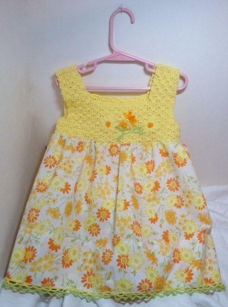 Crochet pillowcase dress toddler retro by ThreadsNThingsbyMarg, $48.00