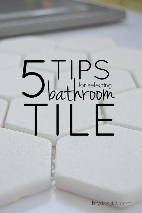 5 tips for selecting bathroom tile