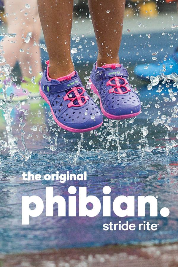 Jump on it! Summer is almost here, and the Stride Rite Phibian is perfect for all land and water wearing occasions.