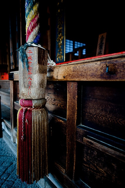 Bell pull at a temple, Kyoto.
