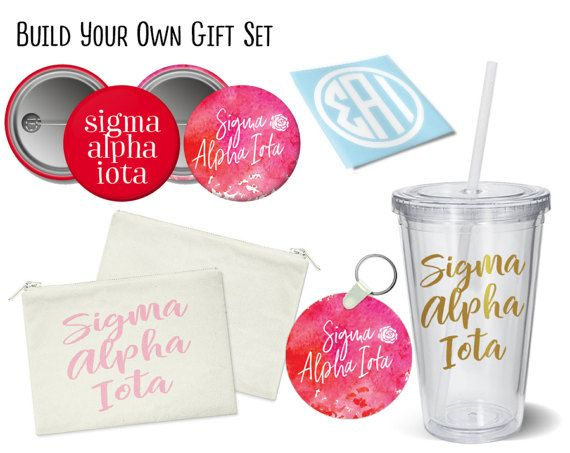 SAI Sigma Alpha Iota Build Your Own Gift Set Sorority Bid Day Graduation Big Little