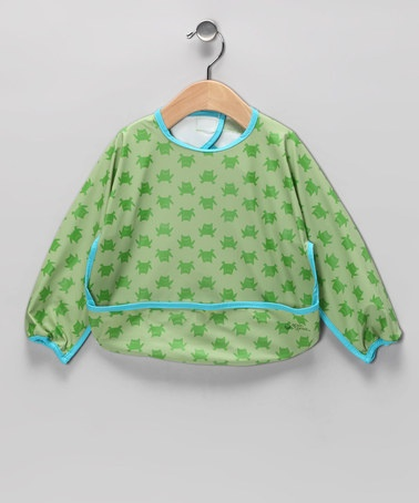 Take a look at this green sprouts Green Frog Waterproof Bib by green sprouts on #zulily today!