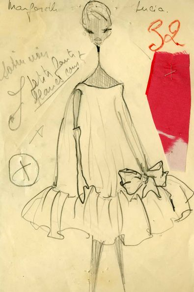 Baby doll dress. Balenciaga Spring Summer 1958.