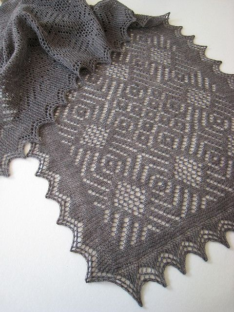 Knitting Shawl Russian : Ravelry faux russian stole pattern by katie nagorney and