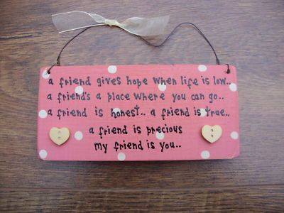Homemade+Gifts+for+Your+Friends   ... Gift Handcrafted personalised chic. Best friend gift. - 330527378643
