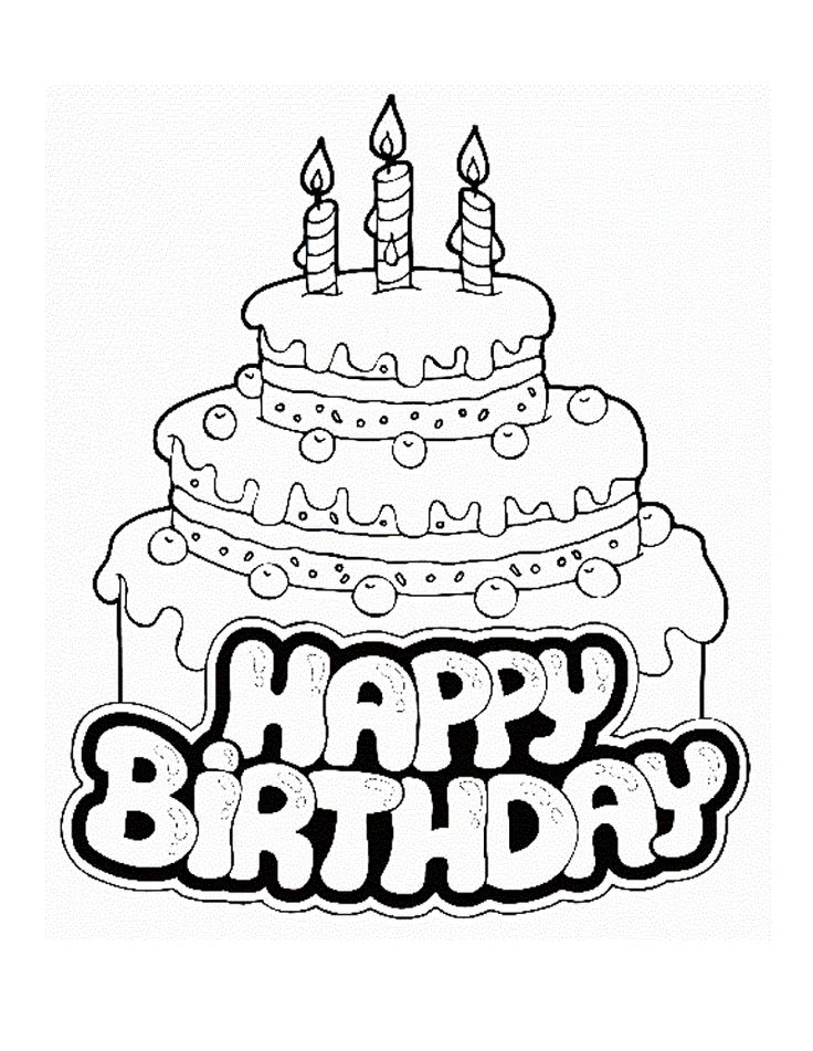baby 1st birthday coloring pages - photo#19