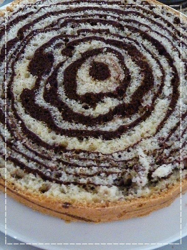 Mramorový dort s tvarohovým krémem