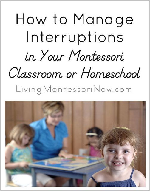 Blog post at LivingMontessoriNow.com : In Montessori education, it's important that children aren't interrupted so they can complete their work cycle and develop the ability t[..]