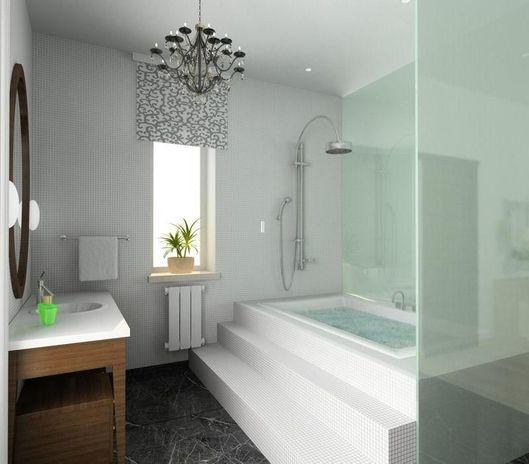El vidrio siempre te dará la sensación de exposición, lo que hará que tu bañe sea muy sexy.