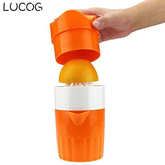 LUCOG Portable Manual Lemon Juicer Mini Fruit Juicer Hand Lemon Orange Citrus Squeezer Big Capacity