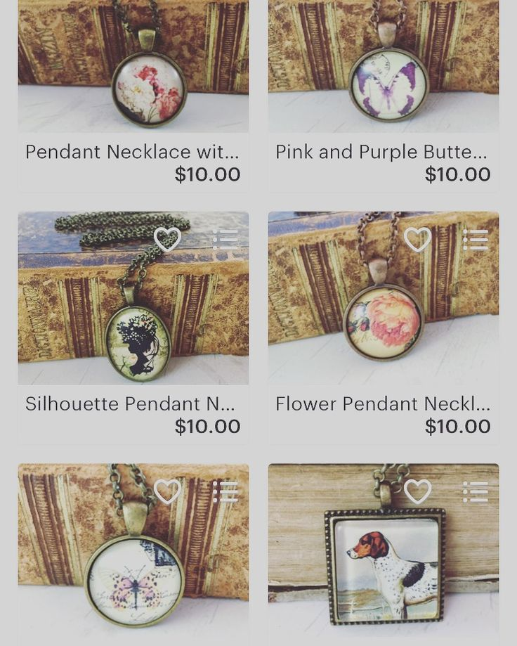 Vintage Style Picture Pendant Necklaces - perfect for gift giving! $10