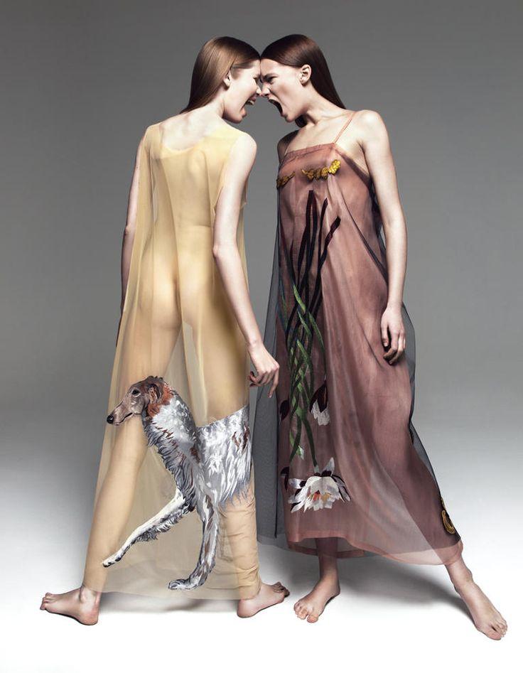 Юбка, Tatyana Parfionova, коллекция осень-зима  2008/2009; платок, Tatyana Parfionova, коллекция осень-зима  2013/2014.