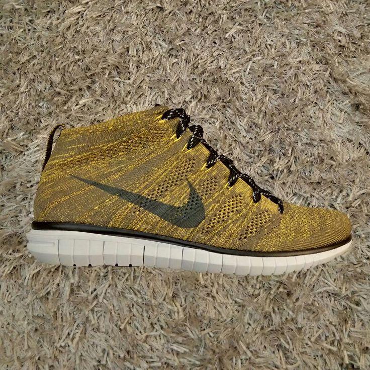 Nike Flyknit Chukka (Tarp Green/Seaweed/Gold Lead/Black)