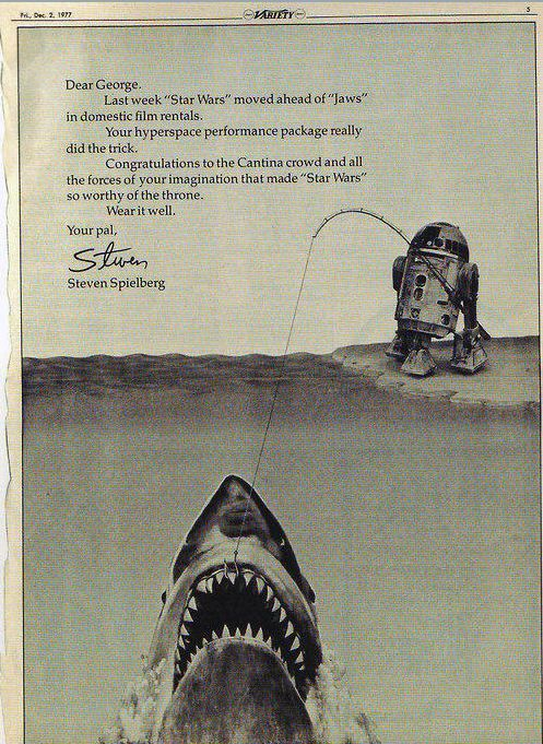 Nice homage from Spielberg to Lucas