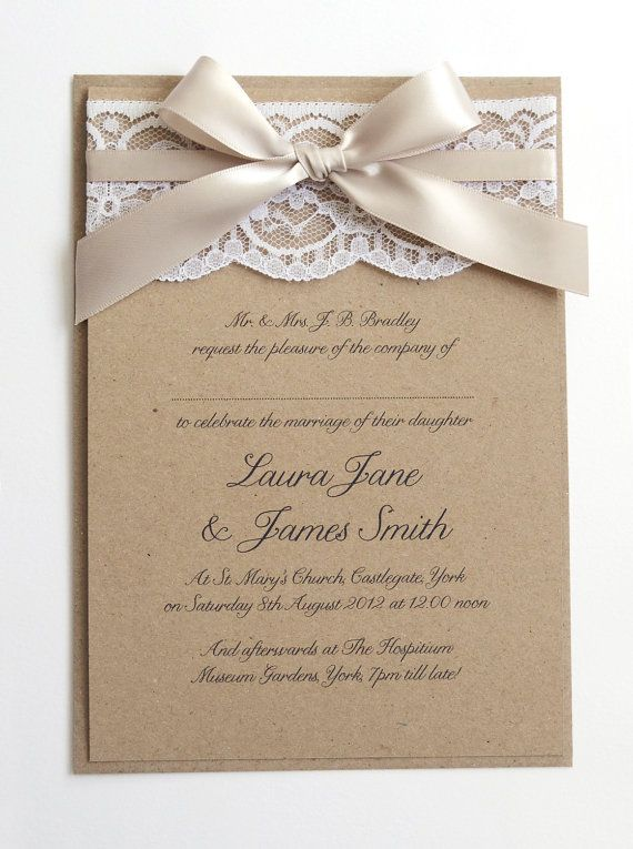Very simple and sweet. I like the brown paper. I wouldn't want stark white for sure. Ivory/cream or this type of paper would be nice, if not too expensive.