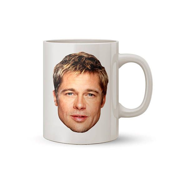 Brad Pitt Face Mug Coffee/Tea Mug  Perfect Gift for