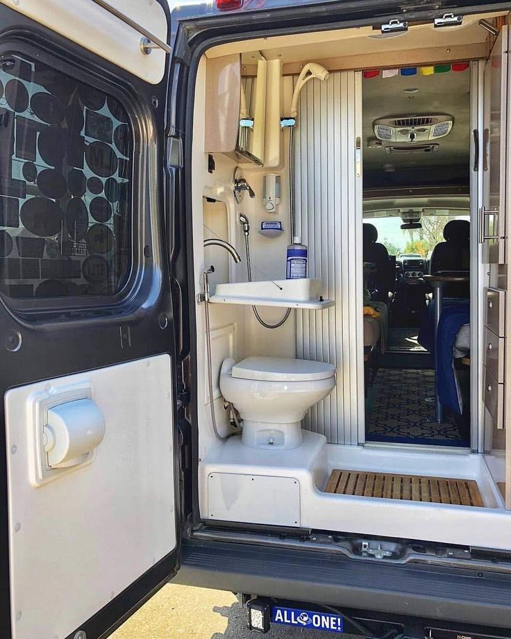 Van Life Duschen Kastenwagen in wohnmobil umbau