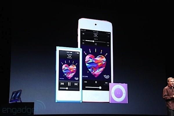 """""""Esta es nuestra nueva gama iPod para las navidades"""". Por ahora sin precios."""