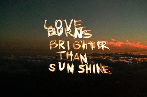 """Brighter Than Sunshine"" lyrics"
