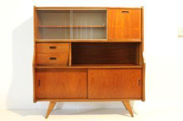 ≥ Vintage jaren 50/60/70 retro deens design wandkast/ dressoir - Kasten   Wandmeubels - Marktplaats.nl