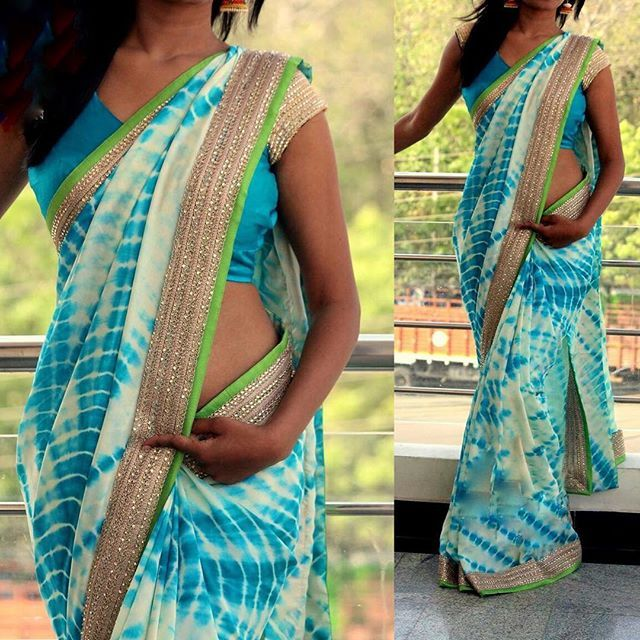 """Aqua blue tie and dye georgette saree with gold border and mint green border To purchase mail us at houseof2@live.com  or whatsapp us on +919833411702 for further detail #sari #saree #sarees #sareeday #sareelove #sequin #silver #traditional #ThePhotoDiary #traditionalwear #india #indian #instagood #indianwear #indooutfits #lacenet #fashion #fashion #fashionblogger #print #houseof2 #indianbride #indianwedding #indianfashion #bride #indianfashionblogger #indianstyle #indianfashion"" Photo…"