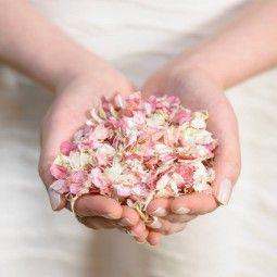 1 kg Konfetti Blütenblätter als Streudeko oder Wurfkonfetti - 21 Farbvarianten