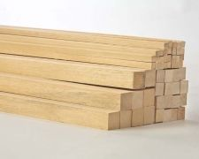 "$2.55 for 3/4"" square x 36"" long hardwood dowels"