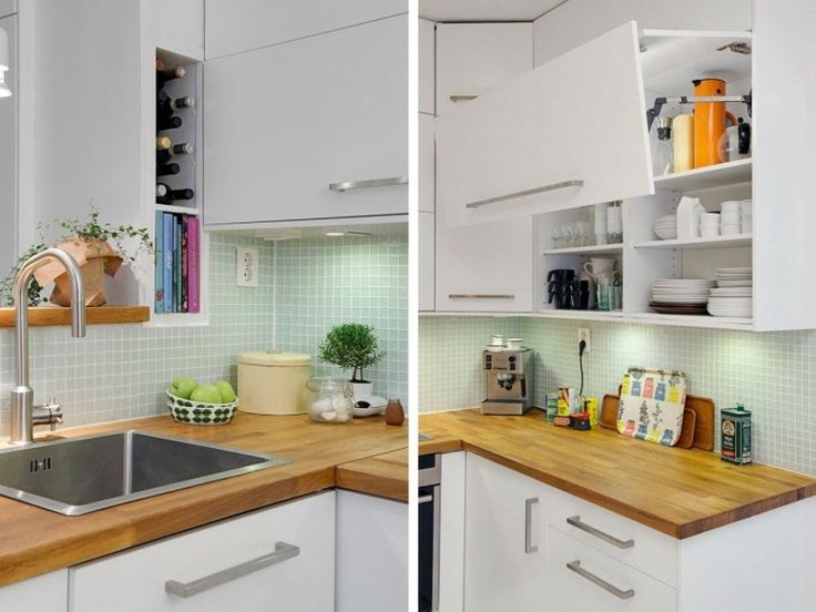 cuisine blanche et bois moderne en style scandinave