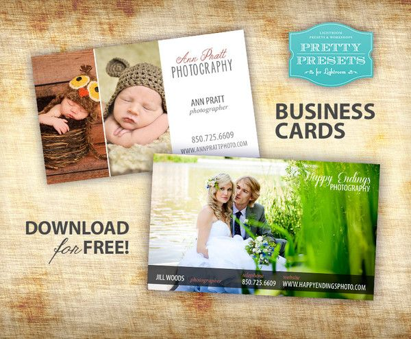 Free Photographer Business Cards | Pretty Presets for Lightroom