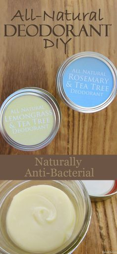 Stop using unhealthy antiperspirant! Learn how to make easy all-natural deodorant that fights body odor with naturally anti-bacterial and anti-fungal ingredients.| DIY Deodorant Tutorial from BrenDid.com | http://brendid.com/all-natural-deodorant-diy-tutorial/