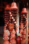 artesanía, alfarería, viento, carillones