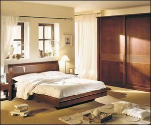 chambre weng en bois de placage tilleul - Chambre Wenge Deco