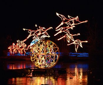 River of Lights during the winter holiday season at the Albuquerque Biopark