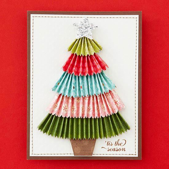 Homemade Christmas Tree Card @Tiffiny Gunther  this is not the exact one but we are needing a stamp sort of this size and shape