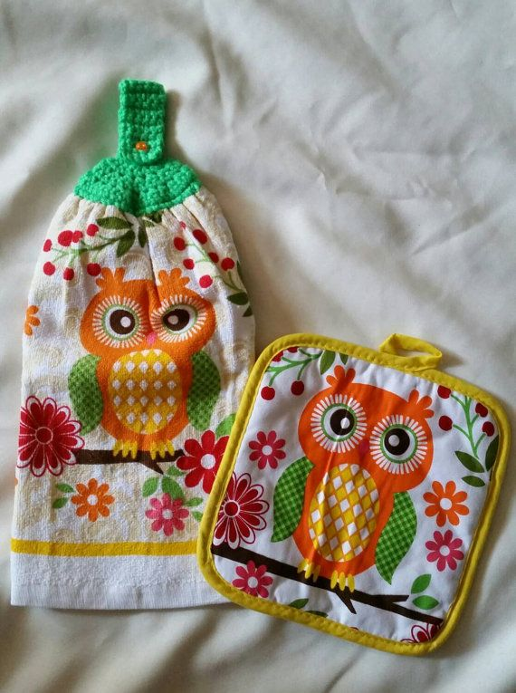 Hey, I found this really awesome Etsy listing at https://www.etsy.com/listing/228733055/owl-crochet-hanging-hand-towel-set