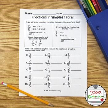 math worksheet : best 25 fractions in simplest form ideas on pinterest  simplest  : Simplest Form Worksheets