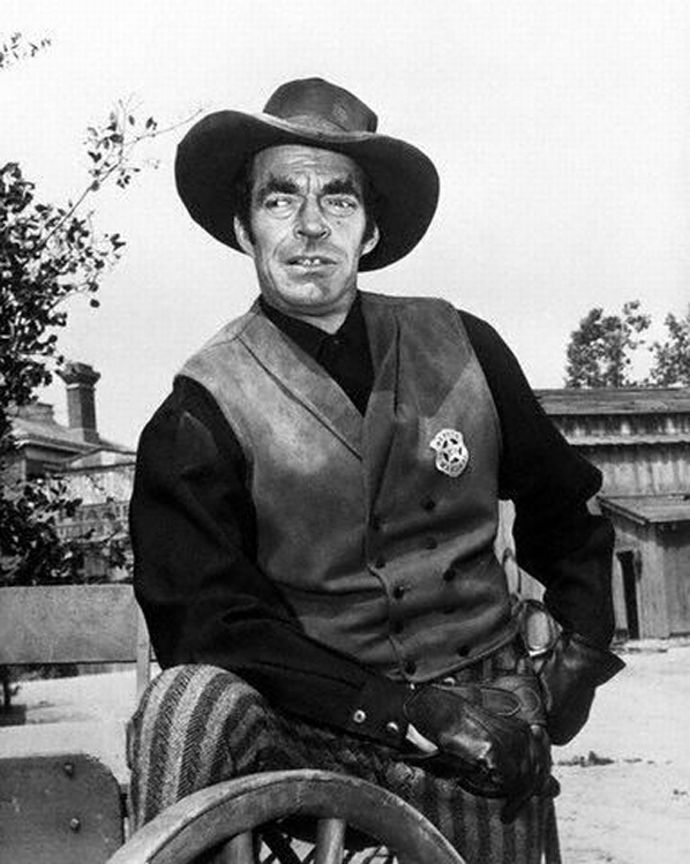 Jack Elam was exempt from WWII due to a childhood injury where he lost sight in his left eye. Wanting to do his part he worked as a civilian for the Navy in Culver City for two years.