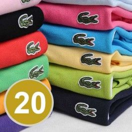 A Lot of 20 Men Polo Shirts Short Sleeve, Mix Order The Colors or Size