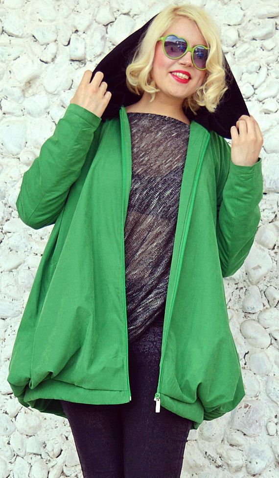 Green Waterproof Jacket / Casual Green Jacket with Black Hood https://www.etsy.com/listing/271542460/green-waterproof-jacket-casual-green?utm_campaign=crowdfire&utm_content=crowdfire&utm_medium=social&utm_source=pinterest