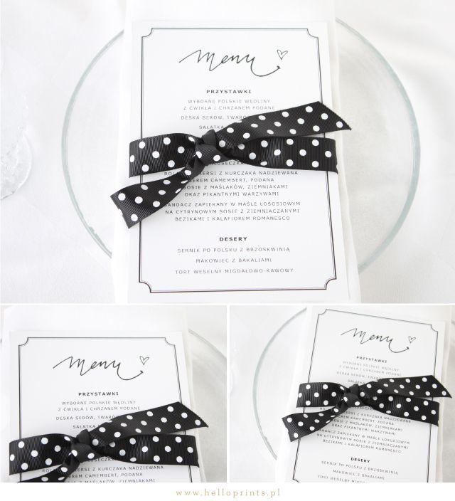Hello! Prints Blog | Darmowe szablony kart menu / Free printable menu cards | http://www.helloprints.com.pl/blog