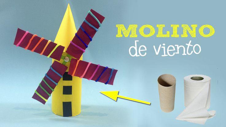 Los tubos de papel higiénico dan de sí muchísimo! No sólo podemos hacer animalitos sino también otras cosas creativas como este molino de viento, por ejemplo. Ya ves lo simple que es: el tubo, unas…