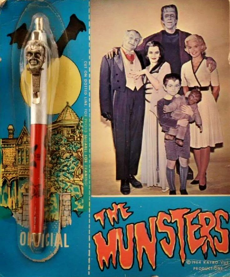 Munsters pen on cool original card...